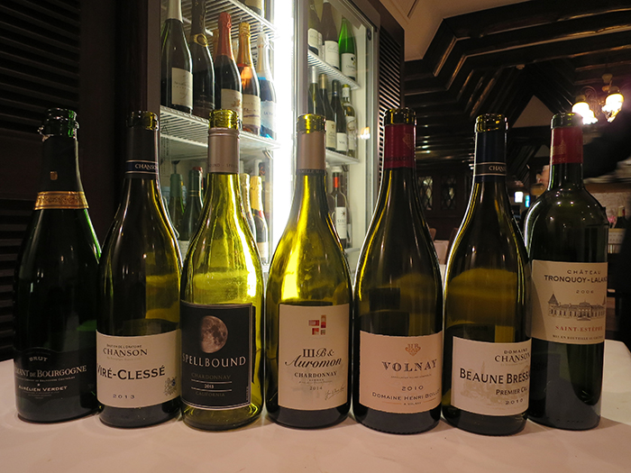 2016年1月~2月に、計4回のワイン会がございました。